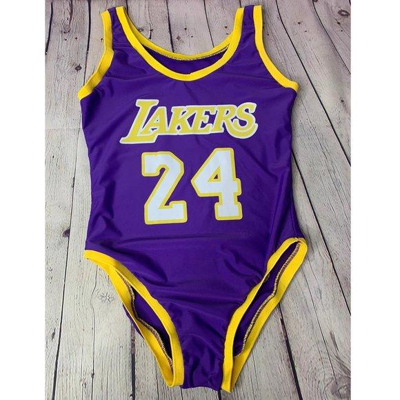Kobe Bryant Lakers Jersey 24 Swimsuit Bodysuit